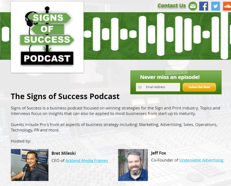 Signs of Success Podcast